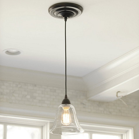 Glass Pendant Shade Adapter Recessed Can Light Traditional Pendant Ligh