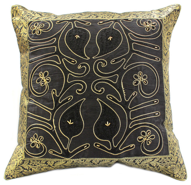 Decorative Pillow Covers - Asian - Pillows - boston - by Banarsi Designs