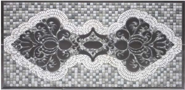 Handcrafted mosaic for kitchen backsplash traditional-tile