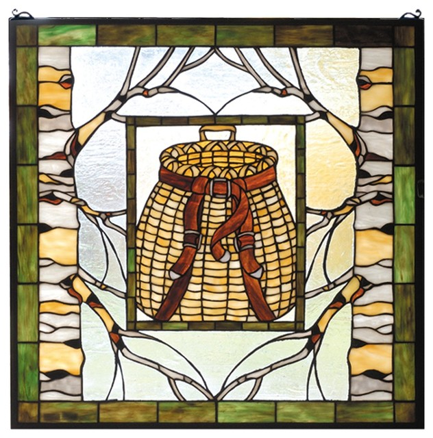 meyda tiffany adirondack basket window x 90937