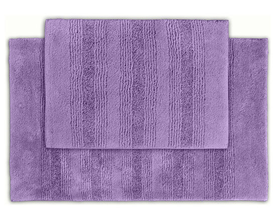 Sands Rug - Westport Stripe Periwinkle Washable Bath Rug (Set of 2) - Classic and comfortable, the Westport Stripe bath collection adds instant luxury to your bathroom, shower room or spa. Machine-washable, always plush nylon holds up to wear, while the non-skid latex makes sure rugs stay in place.