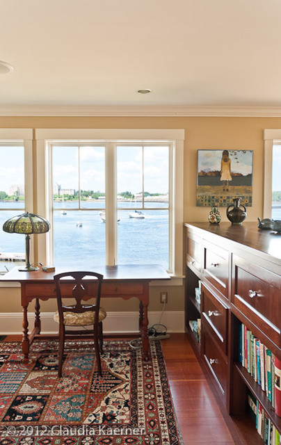 Historic colonial renovation & addition traditional home office