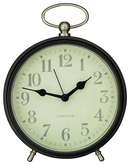 Adeco Vintage Inspired Modern Table Top Clock Farmhouse Wall Clocks by