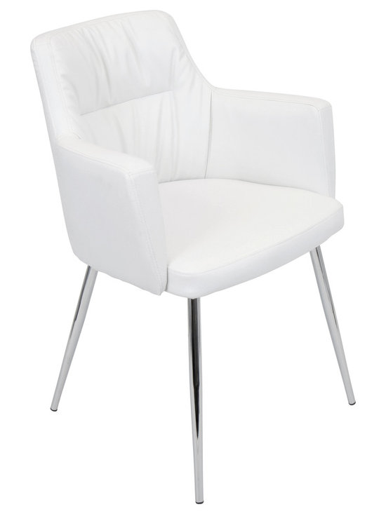"Lumisource - Jackson Dining Chair, White - 23"" L x 24.25"" W x 32.75"" H"