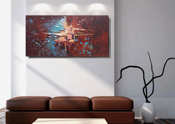 Large Wall Art Modern Living Room Chicago By R