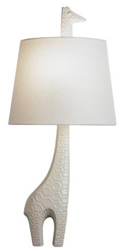 Robert Abbey Jonathan Adler Ceramic Giraffe Wall Sconce (Right Facing) modern-wall-lighting
