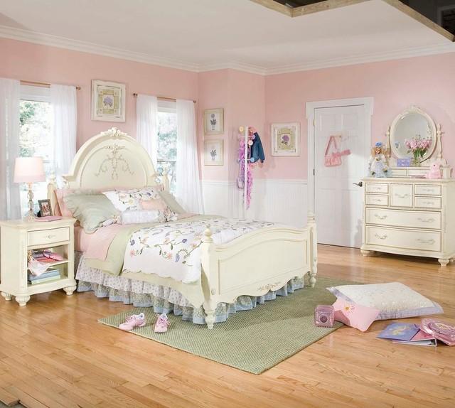 Lea Jessica Mcclintock 4 Piece Kids 39 Bedroom Set W Bureau