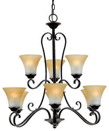 Duchess 2-Tier Chandelier by Quoizel contemporary-chandeliers