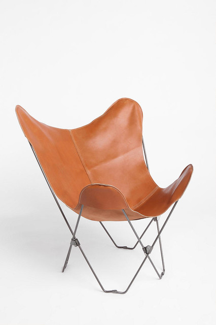 Leather Butterfly Chair midcentury-living-room-chairs