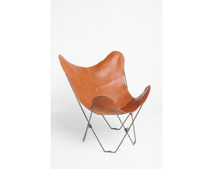 Leather Butterfly Chair midcentury-chairs