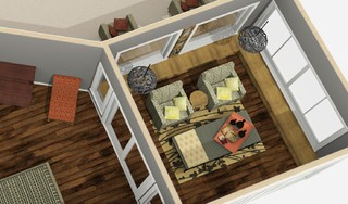 SunRoom off Master Dollhouse - Traditional - Floor Plan - toronto - by HG3D - 3D Home and Garden ...