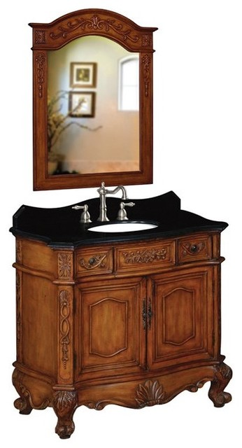 Belle Foret Model BF80031R Single Basin Vanity bathroom-vanities-and-sink-consoles