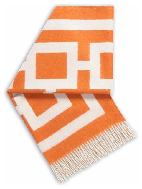 Richard Nixon Alpaca Throw, Orange modern-throws