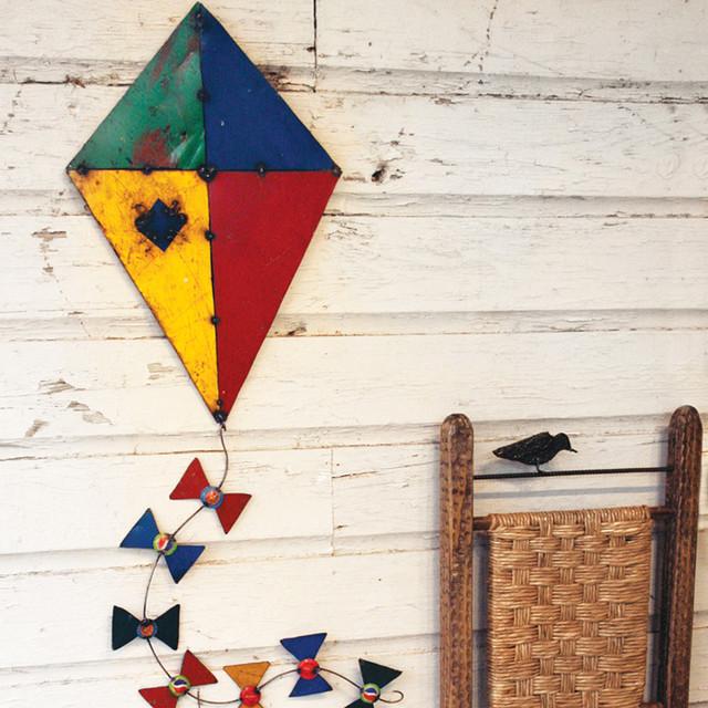 Junkyard wall kite hanging eclectic nursery decor for Decoration kite