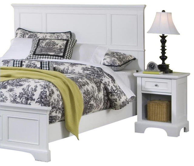Transitional Bedroom Furniture: Home Styles Naples Queen Panel Headboard 3 Piece Bedroom