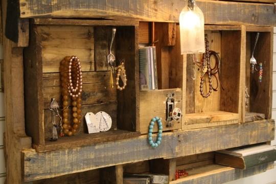 Classic Lighted Jewelry Display/Organizer eclectic-display-and-wall-shelves