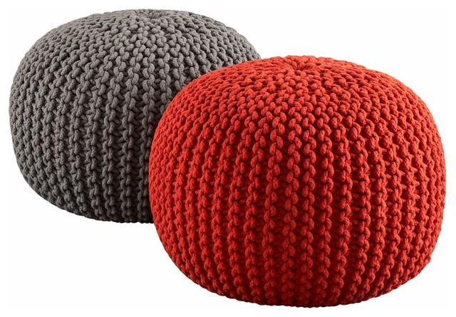 Knitted Poufs contemporary-footstools-and-ottomans