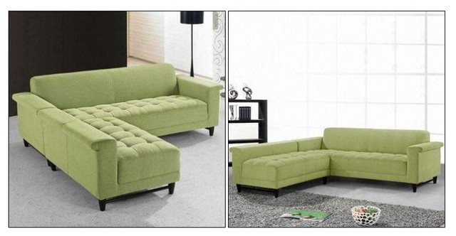 mid century modern fabric sectional sofa 0808 modern sectional