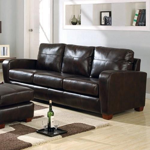 Charles Schneider Hemmingway Bark Leather Sofa traditional-sofas