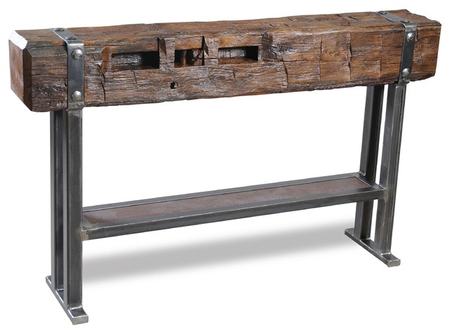 Hand Hewn Beam Bar Eclectic Furniture Other Metro
