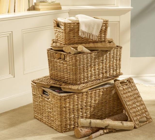 savannah lidded basket large traditional baskets by pottery barn. Black Bedroom Furniture Sets. Home Design Ideas