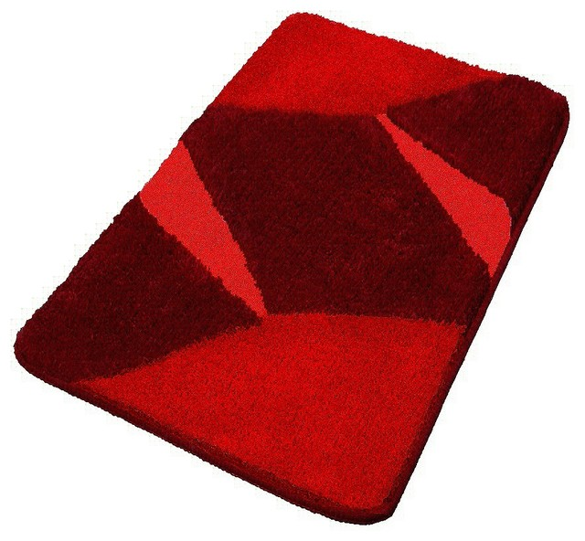 Red Luxury Non Slip Washable Bathroom Rugs Extra Large Contemporary Bath Mats Other Metro