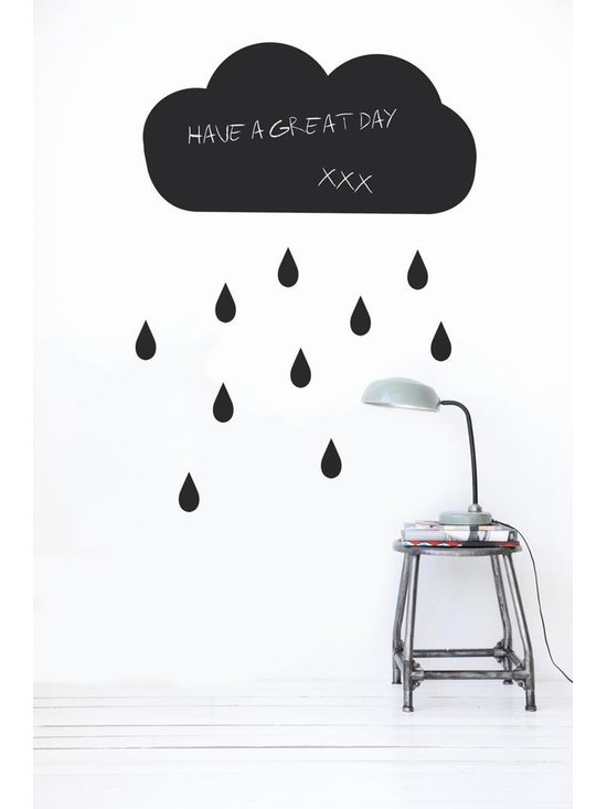 Ferm Living Cloud WallSticker - With Ferm Living WallStickers it is easy to create a new look and change the style in a room in a matter of minutes. By using WallStickers, your kids can also help decorate their own room in an array of colors.