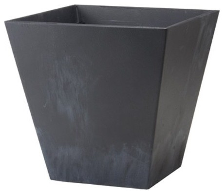Square Resin Novelty Ella Planter - 14 in. Sage contemporary-outdoor-pots-and-planters