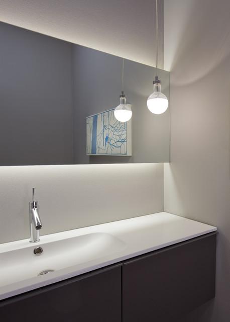 modern powder room modern powder room