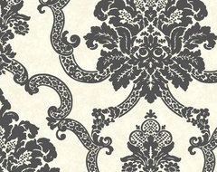Decorative Damask Wallpaper traditional-wallpaper