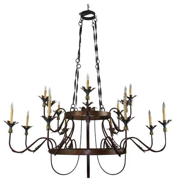 Hand Made Iron Chandelier mediterranean-chandeliers