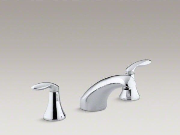 """KOHLER Coralais(R) rim-mount bath faucet trim with 5-1/2"""" spout and lever handle contemporary-bathroom-faucets-and-showerheads"""