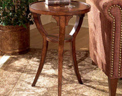 Butler Round Accent Table 24H in. - Plantation Cherry traditional-side-tables-and-end-tables