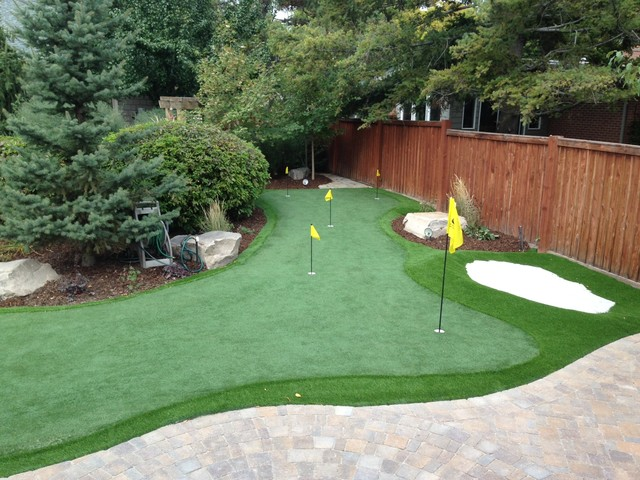 backyard putting greens salt lake city by ridgeline landscaping