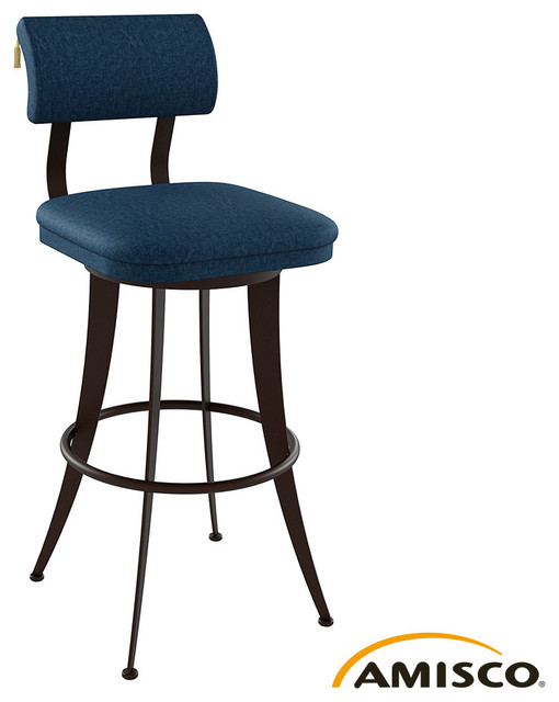 Amisco Oscar Swivel Stool Modern Bar Stools And