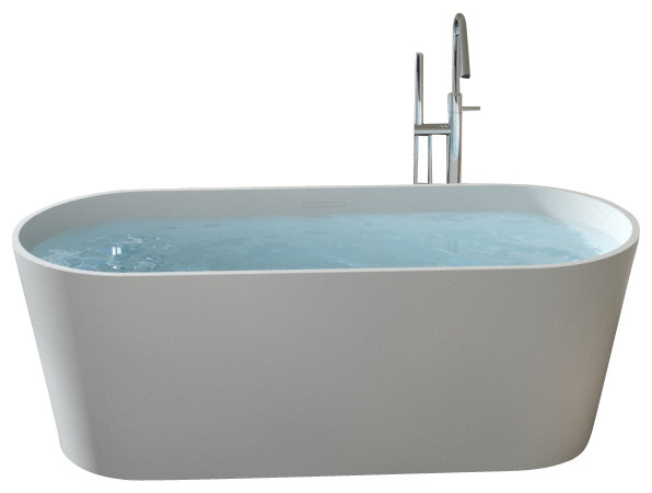 Badeloft stone resin freestanding bathtub matte modern for Freestanding stone resin bathtubs