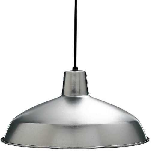 Brushed Steel One Light Pendant
