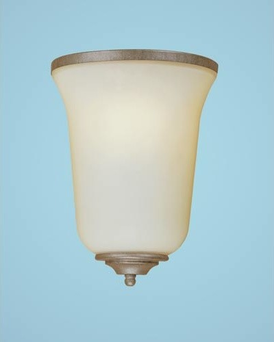 Vintage Iron One-Light Sconce with Linen Glass modern-wall-lighting