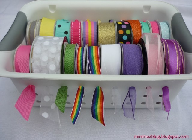 Ribbon Baset Storage eclectic