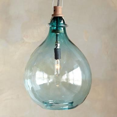 Turquoise Glass Pendant Light eclectic pendant lighting