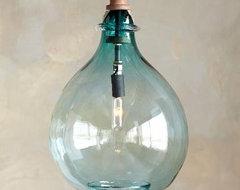 Turquoise Glass Pendant Light eclectic-pendant-lighting