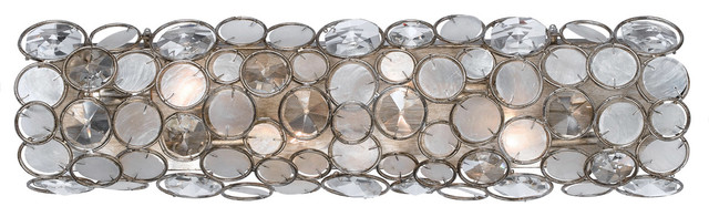 Crystorama 526-SA Palla 4 Light Bathroom Vanity Lights in Antique Silver beach-style-bathroom-lighting-and-vanity-lighting