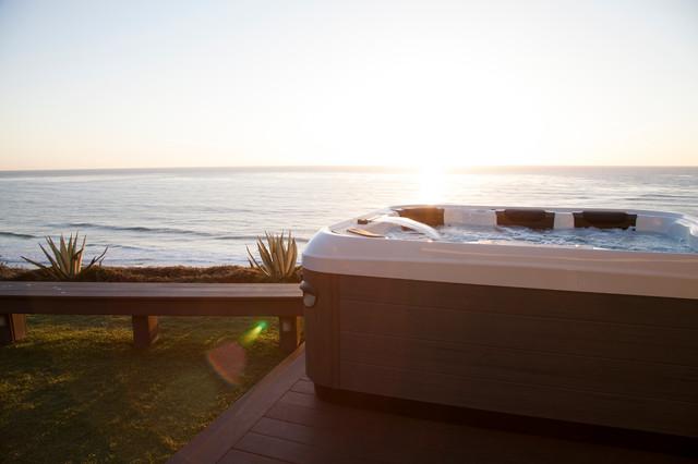 California Oceanview Home beach-style