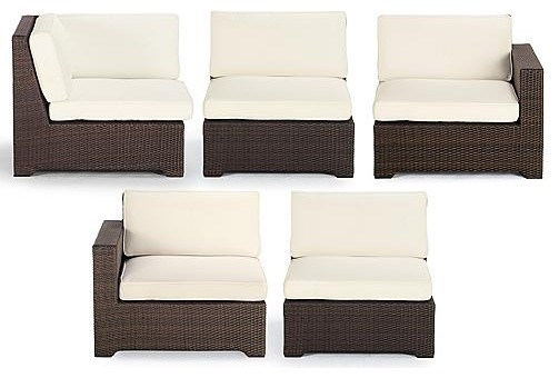 Palermo 5-pc. Modular Set - Frontgate contemporary-patio-furniture-and-outdoor-furniture