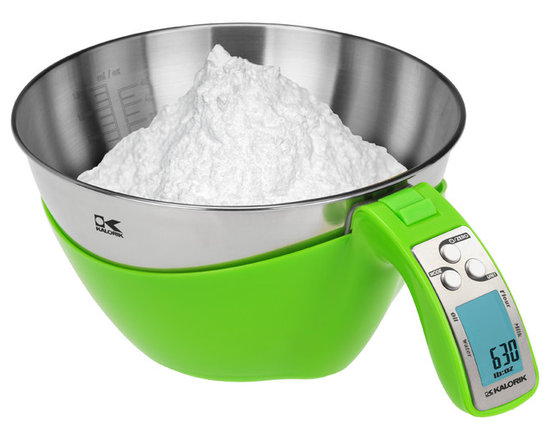 Kalorik - Kalorik Lime-Green iSense Food Scale - Baking and cooking 2.0! Stop guestimating amounts, the iSense food scale, in neon green, will become your favorite small kitchen appliance. No wires, easy to pour, clean and read,  you can weigh and pour liquid or powder ingredients in both metric and U.S. Customary System.