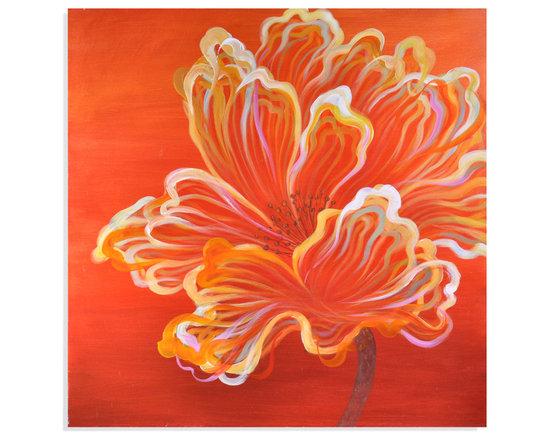 Bassett Mirror - Bassett Mirror Hand-Painted Canvas, Orange Expression - Orange Expression