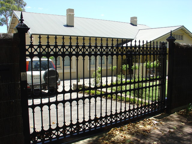 Home security fences and gates images
