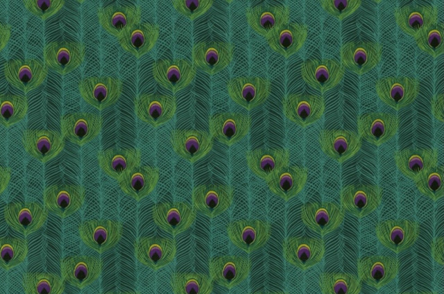 Punjab Peacock Fabric by IMAN eclectic-upholstery-fabric