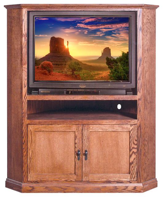 mission large corner tv unit unfinished alder craftsman entertainment centers and tv stands. Black Bedroom Furniture Sets. Home Design Ideas