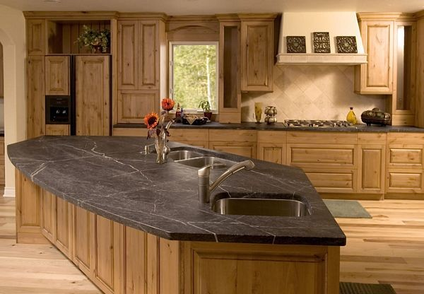 Soapstone Countertop Rustic Kitchen Atlanta By Stone Center